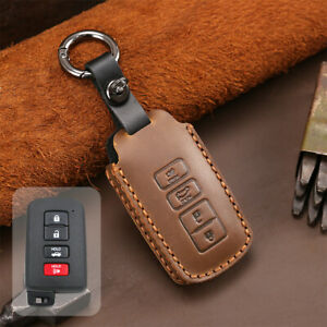 Retro Leather Smart Key Cover Case Fob For Toyota 4runner Sequoia Tundra Tacoma