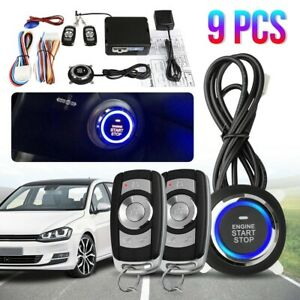 Car Truck Remote Engine Start Alarm Keyless Entry Security System Push Button