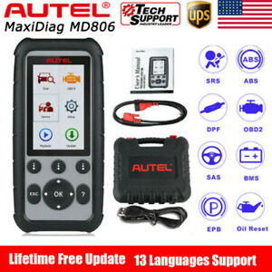 Autel Maxidiag Md806 4 System Auto Diagnostic Tool Scanner Md808 Abs Srs Dpf Epb