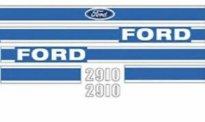 New sealed Roll F2910b Blue Hood Decal Set Fits Ford Fits New Holland 2910
