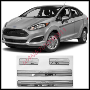 Car Stainless Steel Outer Door Sill Scuff Plate Cover For Ford Fiesta 2012 2019