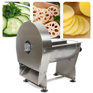 Electric Potato Chipper Slicer Chip Cutter French Fries Chopper Maker Stainless