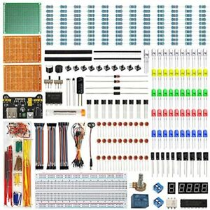 Electronics Component Fun Kit W e book Upgraded Starter With Breadboard Jumper