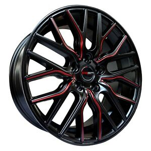 4 Wheels Flare 18 Inch Matte Black Red Rims Fits Honda Accord V6 2000 2002