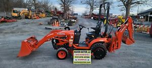 2019 Kubota Bx23s Compact Loader Tractor W backhoe Mower 47 Hours Warranty
