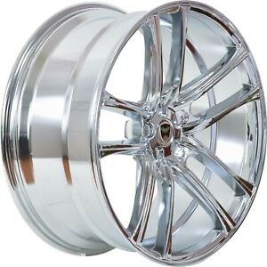 4 G38 18 Inch Chrome Rims Fits Ford Shelby Gt 500 2007 2009