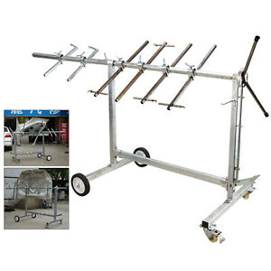 Automotive Spray Painting Rack Stand Auto Body Shop Paint Booth Hood Parts 70kg