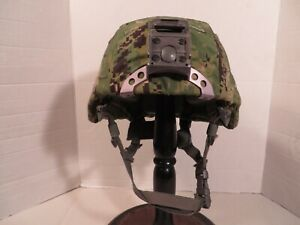USN ACH MICH helmet w titanium NV mount and NWU cover. MSA size M. Excellent. $279.95