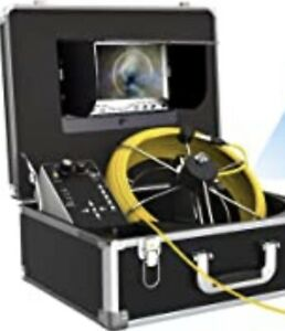 100 Ft Pipe Sewer Camera Snake Cam Inspection Equipment With Dvr Ip68 Waterproof