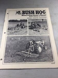 Bush Hog Model 109 126 Cutter Operators Owners Manual