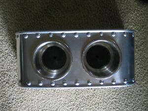Cool Center Console For Bomber Seats Double Cup Holders Solid Rivets Vintage