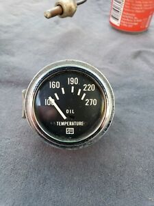 Nos Stewart Warner Vintage Oil Temperature Gauge Gasser Rat Rod Mopar Ford Gm
