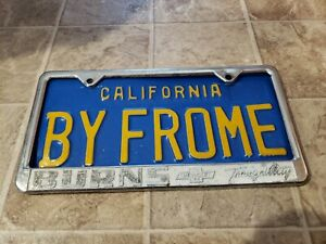 Tranquility California burns Chevrolet Vintage Dealer License Plate Frame