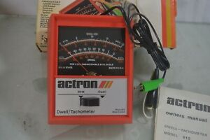 Vintage Actron Automobile Vehicle Car Dwell Tach Tester Model 612