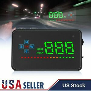 Digital Universal Car Hud Auto Over Speed Reminder Mph Speedmeter For Vehicles