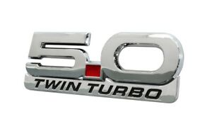 1979 2021 Mustang 5 0 Twin Turbo 5 25 Chrome Fender Emblem W Accent Badge 2pc