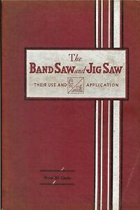 Walker Turner Band Saw Jig Saw Operator Instruction Manual 1934