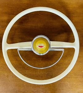 1949 1950 Ford Original Shoebox Steering Wheel W Horn Ring Button Hot Rod Rat