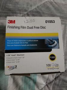 3m Finishing Film Hookit Disc Dust Free 5 Inch P1000 Grit 01053