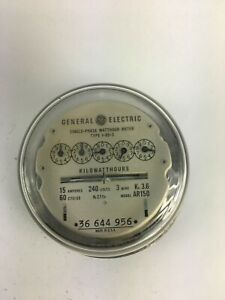 General Electric Ar150 Single Stator Watt Hour Meter Type I 55 s 240v 3w