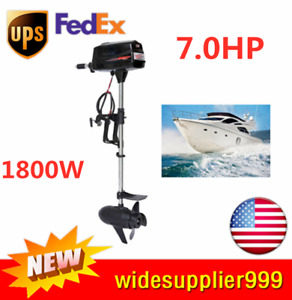 Hangkai 1 8kw 7hp Electric Boat Outboard Engine Heavy Duty Brushless Motor 48v
