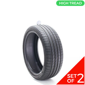 Set Of 2 Used 225 40r19 Pirelli Cinturato P7 Run Flat 93h 8 5 9 32