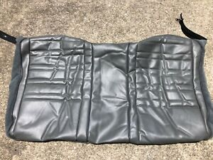 88 92 Camaro Firebird Nos Gray Leather Rear Seat Back Cover Upholstery