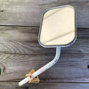 Vintage Car Truck Exterior Side Mirror White Rat Rod Hot Rod Custom Restomod