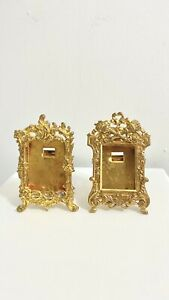 Set Of Two Small Antique Vintage Frames Gold Tintype