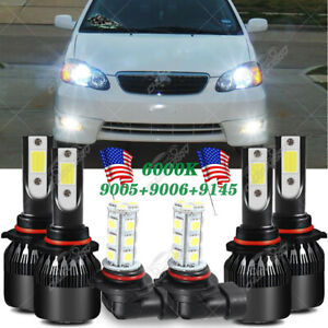For Toyota Corolla 2008 2007 2006 2005 Led Headlight High Low Fog Light Bulb