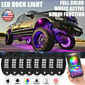 8 Pod Rgb Led Rock Light Bluetooth Offroad Truck For Ford F 150 F 250 Super Duty