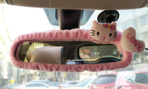 Hello Kitty Car Rearview Mirror Cover Cute Creative Reversing Decoration Female