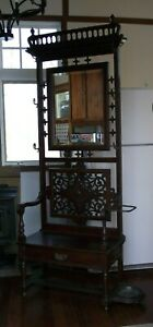 Antique Victorian Hall Tree Chair