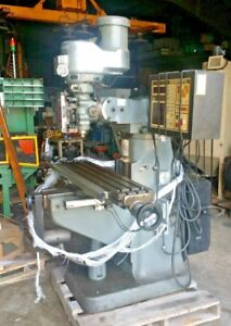 Bridgeport 2 Hp Cnc Vertical Knee Mill 10 x50 Table W anilam 3 axis Controller