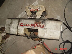Coffing 2 000 Cap Cable Hoist Trolley Pendant Control
