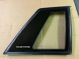 87 93 Ford Mustang Coupe Quarter Window Glass Passenger Side Oem Carlite Notch