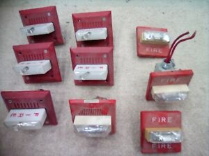 Fos Fire Alarm Wall Mount Speaker Audible Visual 9 Alarms