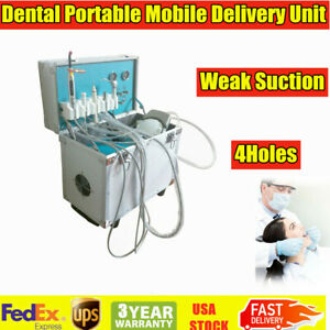Dental Portable Delivery Unit system Rolling Box Equipment Mobile compressor 4h