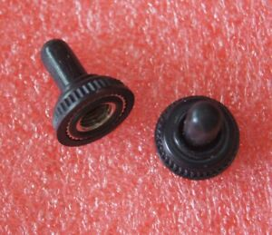 10pcs 6mm Mini Toggle Switch Rubber Resistance Boot Cover Cap Waterproof Black