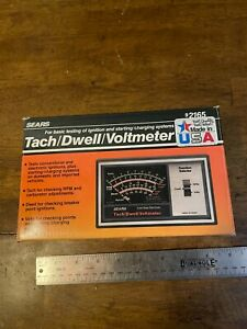 Vintage Sears Solid State Electronic Tach Dwell Voltmeter Model 161 216500 92165