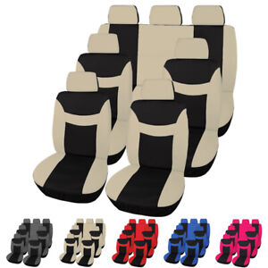 Universal Car Seat Covers Full Set 3 Row 7 Seats Protectors For Truck Suv Van