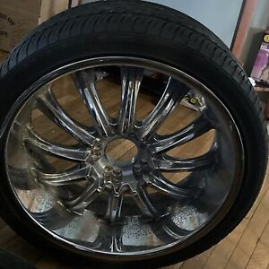 Four 24 Car Tires And Rims