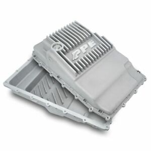 Ppe Raw Aluminum Deep Transmission Pan 17 19 Ford F 150 With 10r80 Transmission