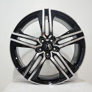 605 Set Of 4 Wheels 19 Inch Black Rims Fits Honda Accord Coupe V6 2008 2018