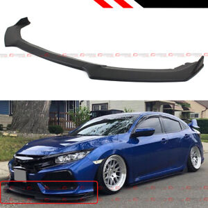 For 17 2021 Honda Civic Si Hatchback Jdm Matt Black Front Bumper Lip Splitter