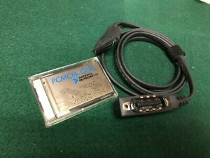 National Instruments Pcmcia Gpib Card 182361d 01 With 2 Meter Cable 182362 02