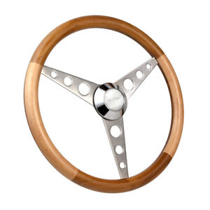 Con2r Custom Hot Street Rod Series Two Classic Wood Steering Wheel 15 O d