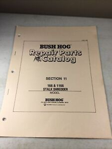 Bush Hog 166 1166 Stalk Shredder Parts Manual