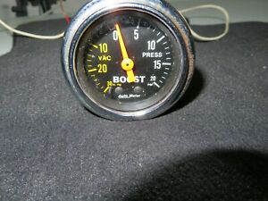 Autometer Boost Gauge 20 Psi Part 2401 Used Size 2 1 16