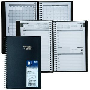 2021 Brownline C2504 81t Daily Planner Appointment Book 8 X 5